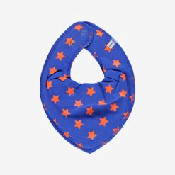 Pippi bib sjaal blauw met ster