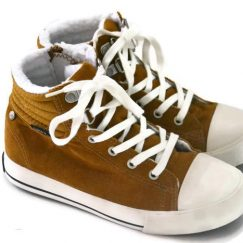 Name it golden brown Sneaker met bont