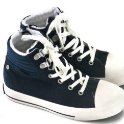 Name it blauwe Sneakers met bont