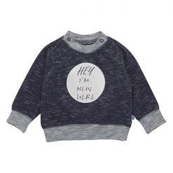 Minymo newborn baby Elif blauw shirt