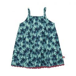 Prachtige Minymo Fani jurk holiday voor elke gelegenheid. De jurk heeft elastische spagettibandjes. De hals is recht en eveneens elastisch. Een A-lijn jurk zonder mouwen, met all-over-print. Wil jij trendy en hip naar de peuterspeelzaal, school of een feestje dan is deze Minymo jurk gemaakt van kant echt iets voor jou. Verkrijgbaar in de maten 68 t/m 104. www.Eileen4Kids.com