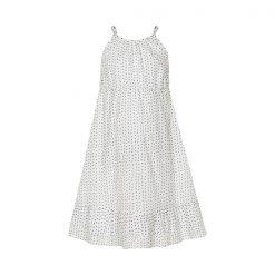 Creamie Celine jurk met spagettibandjes