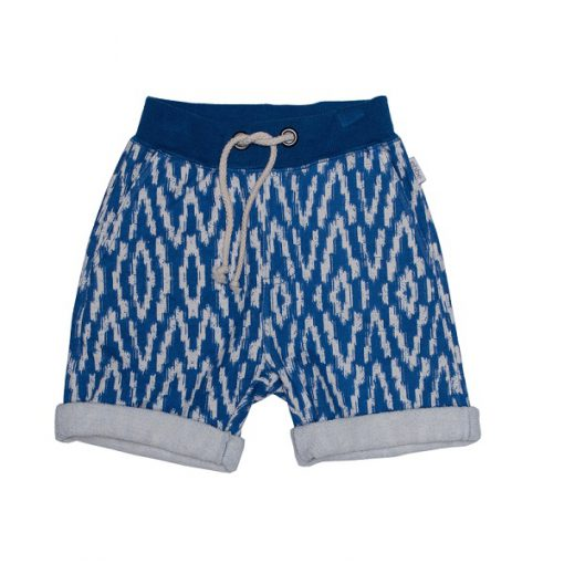 Ebbe Ingo sweat short Blue Ikat