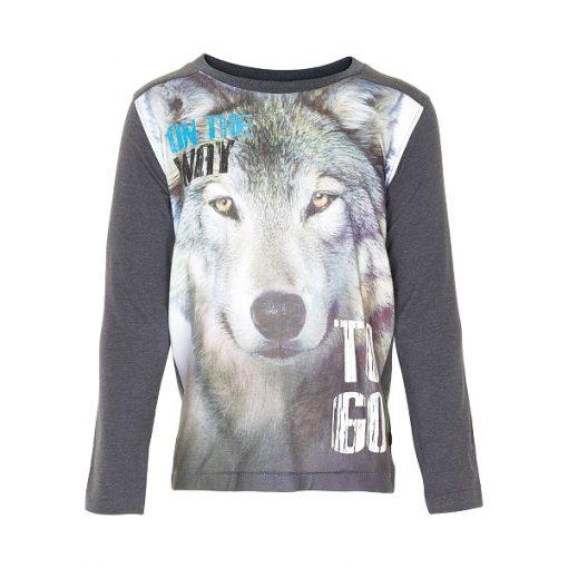 Minymo - jongens shirt - model Greg - grijs