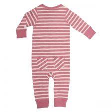 Ebbe Amore bodysuit dusty pink/offwhite stripe