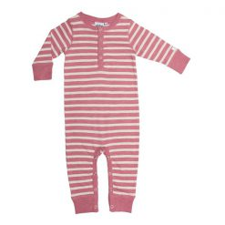 Ebbe Amore bodysuit dusty pink offwhite stripe