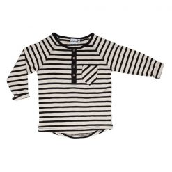 Ebbe Alex offwhite black stripe shirt