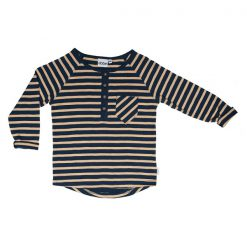Ebbe Alex winter navy sand stripe shirt
