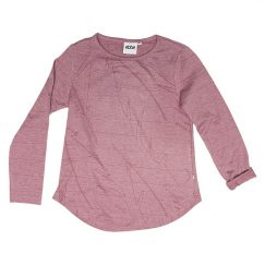 Ebbe Nova ls tee - dusty rose melange