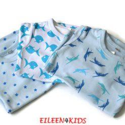Pippi newborn romper blauw 3 pack