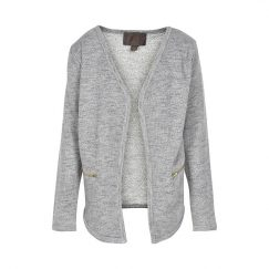 Creamie Heba sweat cardigan light grey melange