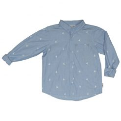 Ebbe - jongens blouse - Cabe - tilting boats - blauw