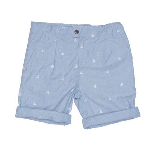 Ebbe - jongens korte broek - Conan chinos - tilting boats - blauw