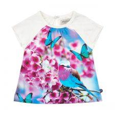 Minymo Kylie shirt korte mouwen met vlinder