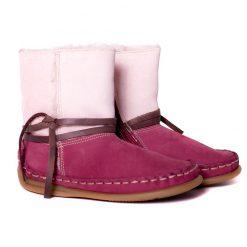 Bardossa - Bajo Nubuck Burdeos laarsjes met bont - kinderschoen - roze