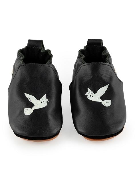 Boumy babyschoentje CarlijnQ zwart Dove
