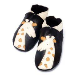 Baby Dutch - babyslofjes - giraf - bruin