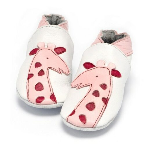 Baby Dutch - babyslofjes - giraffe - roze
