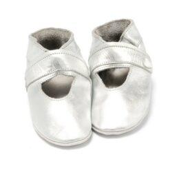 Baby Dutch - babyslofjes - open - zilver