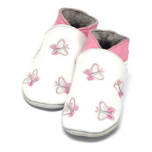 Baby Dutch - babyslofjes - vlinder - wit