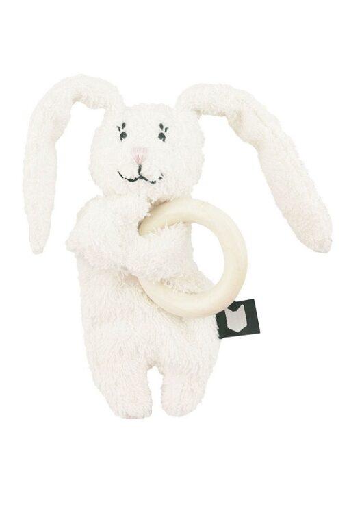 Hebe - konijn met bijtring - wit - Eileen4Kids
