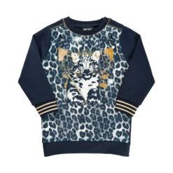 Me Too shirt panterprint blauw - Eileen4Kids